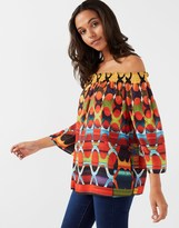 Star by Julien Macdonald Tribal Print Bardot Top