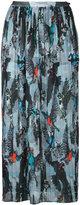 Markus Lupfer bird print pleated skirt - women - Polyester - S