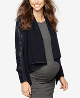 Blank NYC Maternity Draped Faux-Suede Jacket