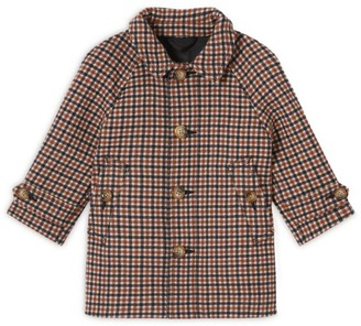 Burberry Kids Check Wool Coat