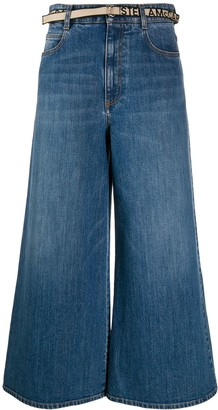 Stella McCartney Cropped Wide Leg Jeans