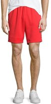 adidas Superstar Track-Stripe Shorts, Red