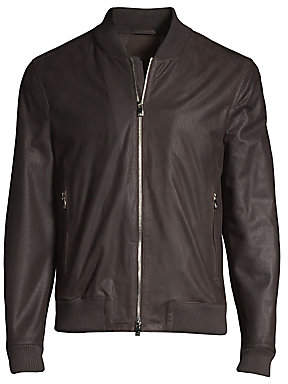 Corneliani Men's Leather Bomber Jacket