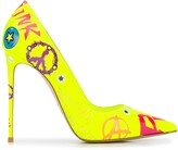 Le Silla Eva 120 printed pumps