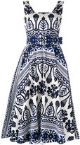 Samantha Sung flared printed dress - women - Cotton/Spandex/Elastane - 2