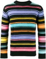 The Elder Statesman Crazy stripe painted jumper