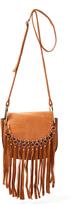 Kathy Ireland Brown Fringe Crossbody Bag