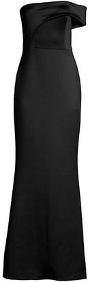 Black Halo Off-The-Shoulder Gown