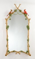 The Well Appointed House Carvers' Guild Twig & Ivy with Cardinals Mirror