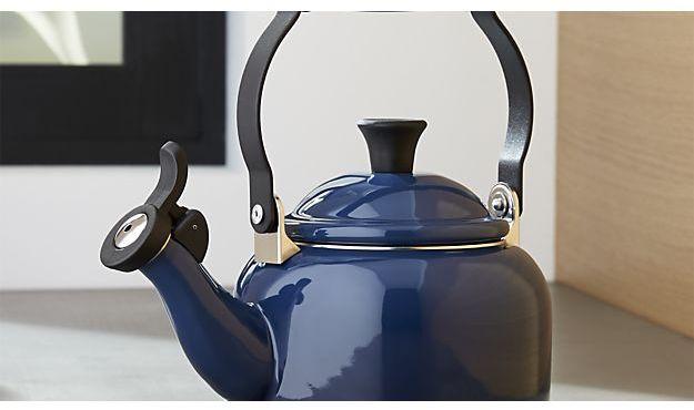 Crate & Barrel Le Creuset ® 1.25-Qt. Demi Ink Tea Kettle