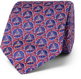 Turnbull & Asser 8cm Silk-jacquard Tie - Burgundy