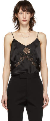Paco Rabanne Black Satin Lace Camisole