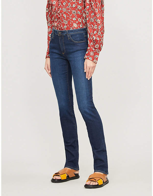 AG Jeans The Harper skinny straight mid-rise jeans