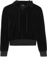 Vetements + Juicy Couture Embellished Cotton-blend Velour Hooded Top - Black