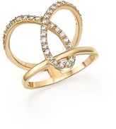 Bloomingdale's Diamond Open Loop Ring in 14K Yellow Gold, .55 ct. t.w.
