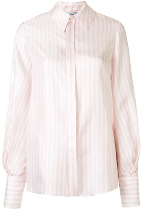 Dice Kayek Bishop Sleeve Striped Shirt