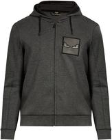 Fendi Bag Bugs zip-through cotton-blend sweatshirt
