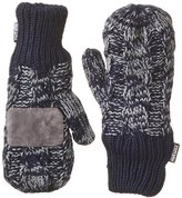 Muk Luks Men's 2 Tone Cable Mittens