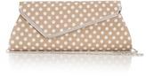 Wallis Mink Polka Dot Clutch Bag