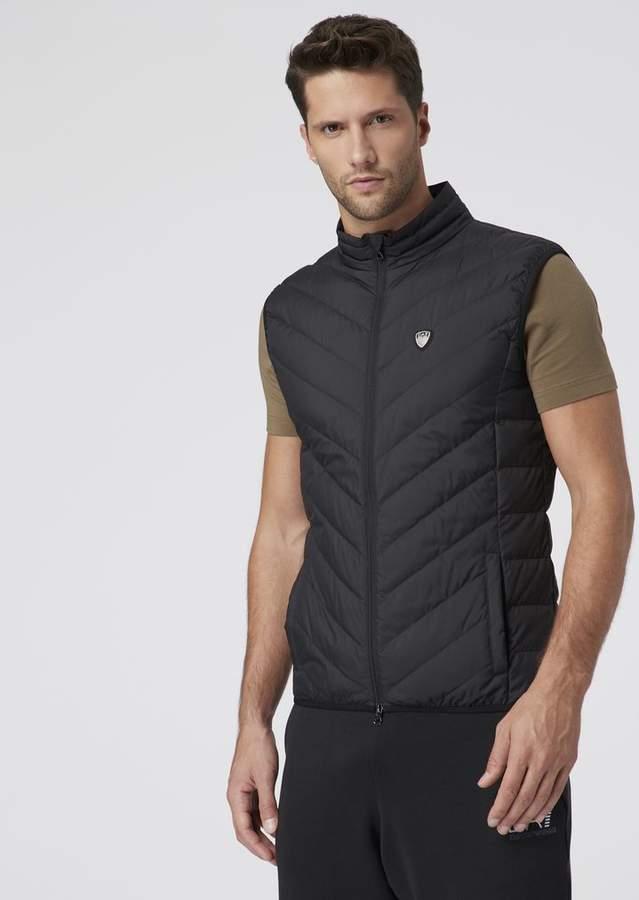 8aaa8c24e2 Ea7 Sleeveless Down Jacket In Technical Fabric
