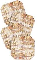 DENY Designs Monika Strigel Really Mermaid Gold Coaster Set
