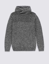 Marks and Spencer Cowl Neck Cotton Blend Jumper (5-14 Years)