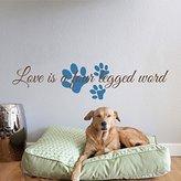 Geckoo Pet Wall Decal - Love is a Four Legged Word - Pet decal - Cat wall decal - Dog Wall Decal (X-Large, B)
