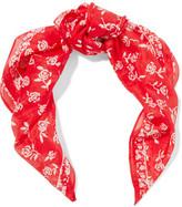 Rag & Bone Floral-Print Cotton And Silk-Blend Scarf