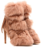 Gianvito Rossi Moritz Fur And Suede Ankle Boots