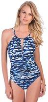 Magicsuit Blurred Lines Kat High Neck Swimsuit 367773-BLU