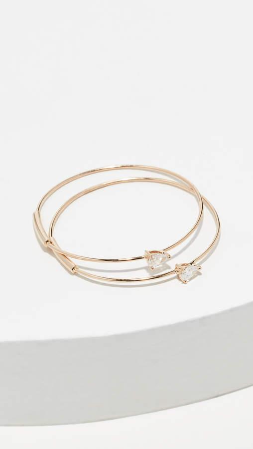 Lana 14k Solo Pear Diamond Hoops