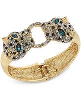 Thalia Sodi Gold-Tone Pavé Leopard Hinged Bangle Bracelet, Only at Macy's