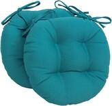 Indoor Dining Chair Cushion Winston Porter Fabric: Aqua Blue