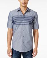 Alfani Men's Classic Fit Short-Sleeve Stripe Shirt, Only at Macy's
