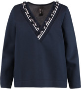 Mother of Pearl Georgia embellished cotton and modal-blend scuba sweatshirt