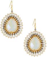 Nakamol Crystal Beaded Circular Drop Earrings