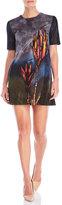 Marni Short Sleeve Printed Gauze Shift Dress