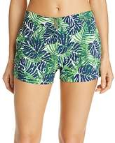 Vilebrequin Madrague Palm Print Swim Cover-Up Shorts
