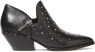 Sigerson Morrison Studded Textured-leather Ankle Boots