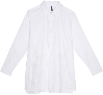 Black Label Anemone Button-Down Shirt