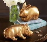 Pottery Barn Kids Emily & Meritt Gold Hippo Bank