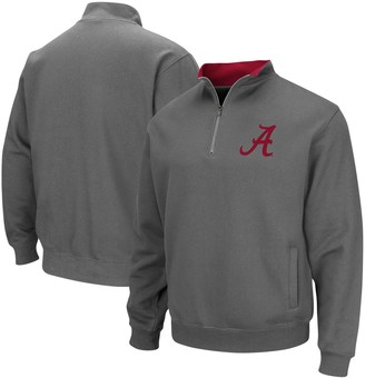 Colosseum Men's Charcoal Alabama Crimson Tide Tortugas Logo Quarter-Zip Pullover Jacket