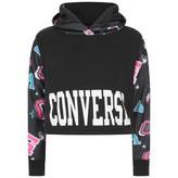 Converse ConverseGirls Black Printed Cropped Sweater