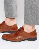 Red Tape Oxford Brogues In Tan Leather