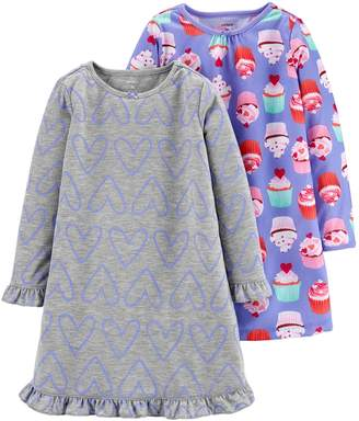 Carter's Girls 4-14 2-Pack Nightgowns