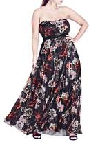 City Chic Plus Size Women's Holiday Rose Gown