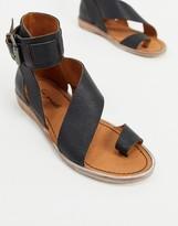 Free People vale asymmetric strap sandals in black