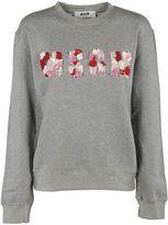 MSGM Embellished Logo Sweatshirt