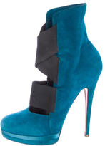 Casadei Suede Caged Ankle Boots