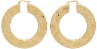 Jil Sander Gold Slim Hoop Earrings